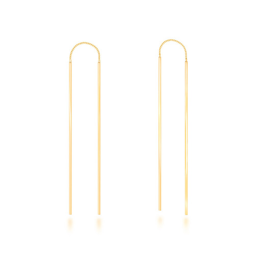 [925silver]Slim Stick Bar Silver Earrings
